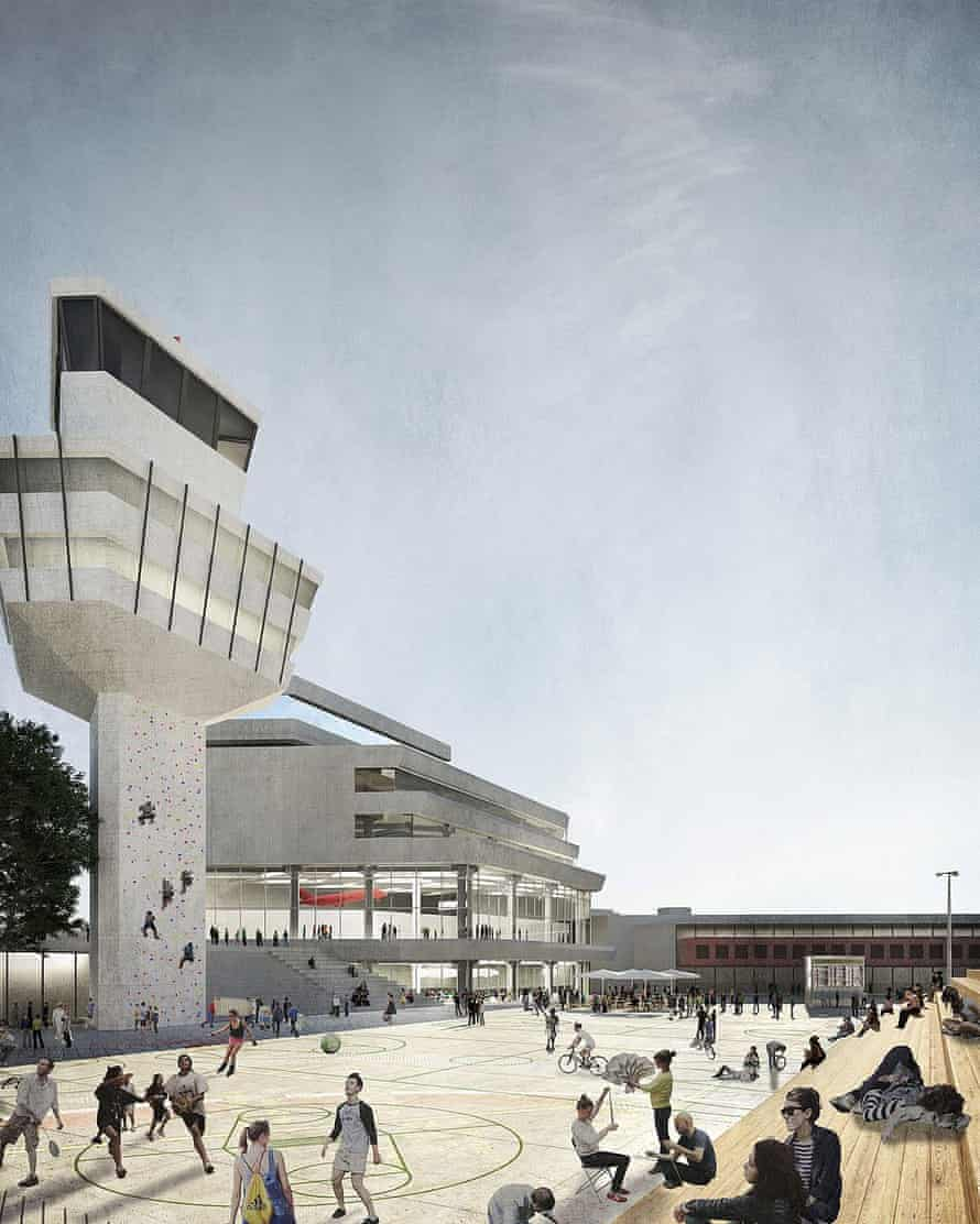 A plan for Tegel airport.
