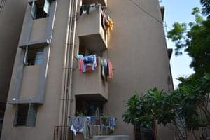 The new four-storey Shantadeep housing cooperative.