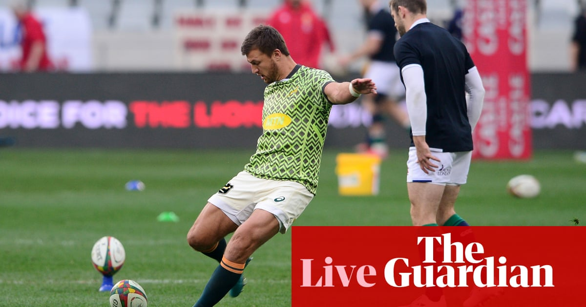 South Africa v British & Irish Lions: third and final Test – live!