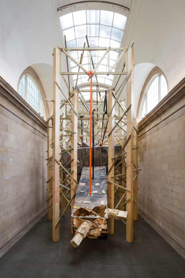 Dock by Phyllida Barlow at Tate Britain in 2014 – the great British artist is currently excluded from the Turner prize on grounds of age.