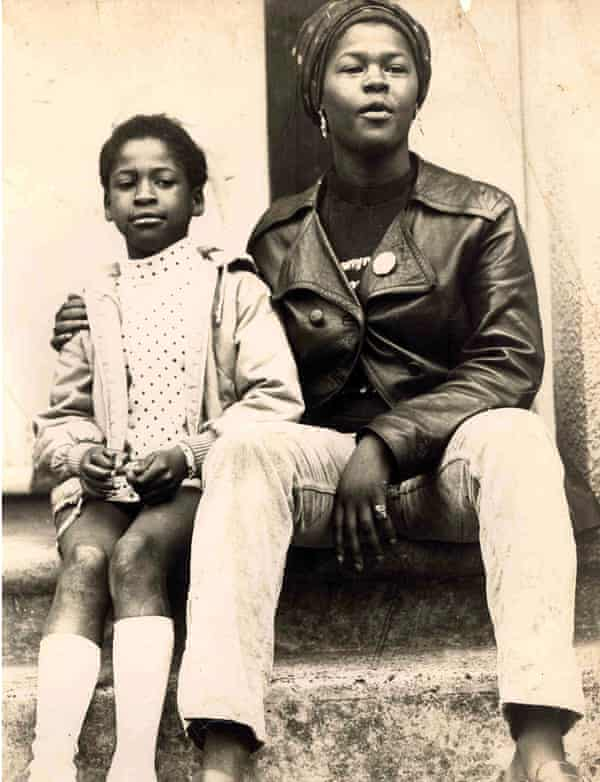 Beverley Bryan with a student from the British Black Panthers Saturday school