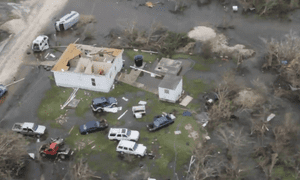 Widespread destruction of properties in Barbuda, one of the first places hit by the hurricane.