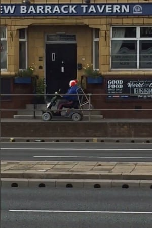 A clown spotted on a mobility scooter heading south on Penistone Road, in the Hillsborough area of Sheffield.
