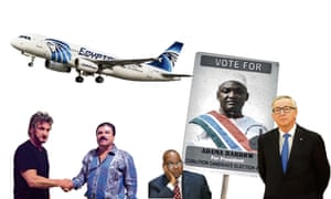 World newsmakers ... Sean Penn and El Chapo, Jacob Zuma and Jean-Claude Junker.
