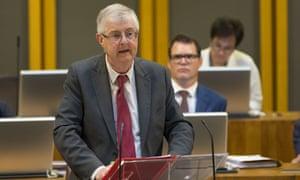 Mark Drakeford speaking in the Welsh assembly.