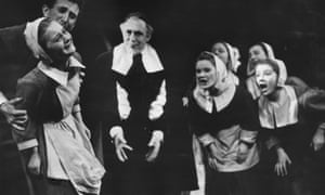 A scene from Bristol Old Vic production of The Crucible in 1954