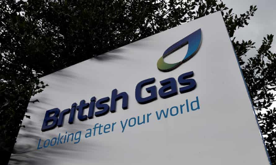 A British Gas sign outside its offices in Staines