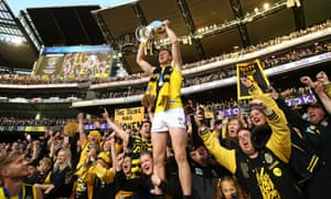 Jack Riewoldt of the Tigers celebrates