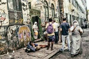 A street in Lapa, Rio de Janeiro