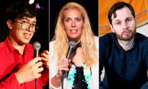 Joker faces … Phil Wang, Sara Pascoe and Liam Williams.