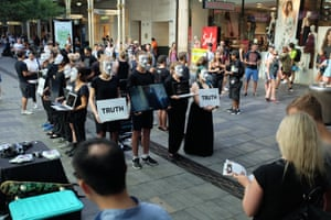 The Cube of Truth at Pitt Street Mall