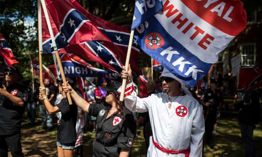 The Ku Klux Klan protests in Charlottesville, Virginia.