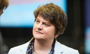 Arlene Foster at the Tory conference in Manchester earlie this week.