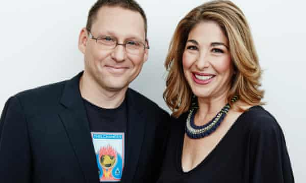 Avi Lewis, left, director of 'This Changes Everything' with writer Naomi Klein.