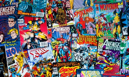 A collection of Marvel comics.