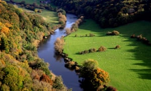 Autumn colours … a bend in the river.