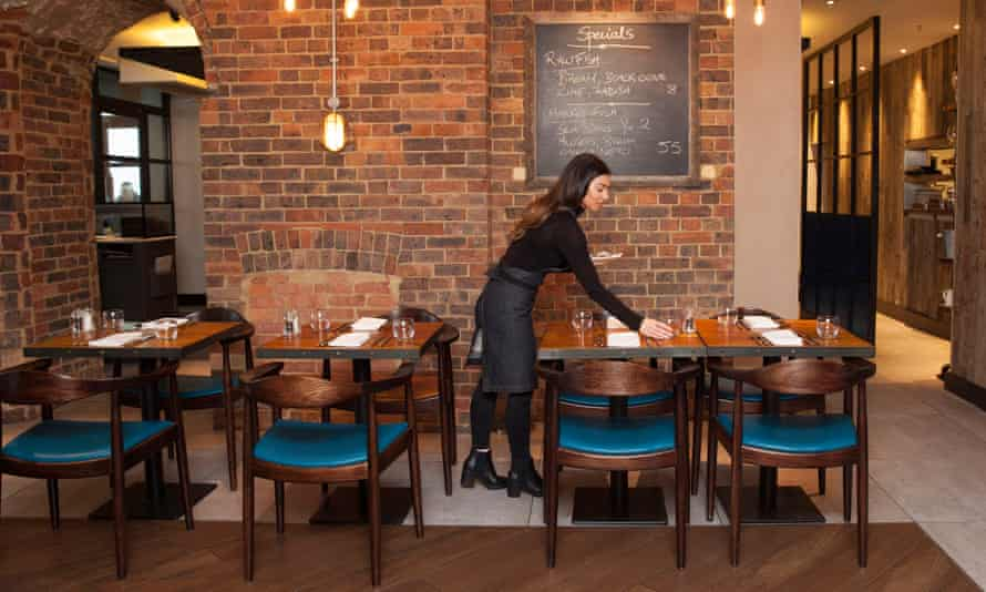 Going coastal: the dining room at the Salt Room in Brighton.