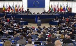 MEPs at the European parliament