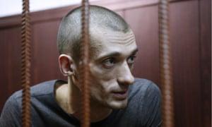 Pavlensky in court.