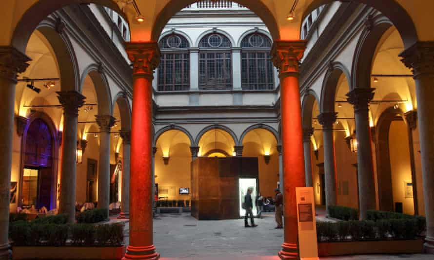 Courtyard of the Palazzo Strozzi, Florence.