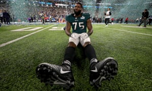 The Eagles' Vinny Curry takes in his team's victory