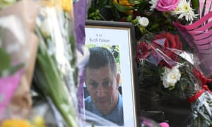 Flowers laid in tribute to PC Keith Palmer, who died in the Westminster Bridge attack.