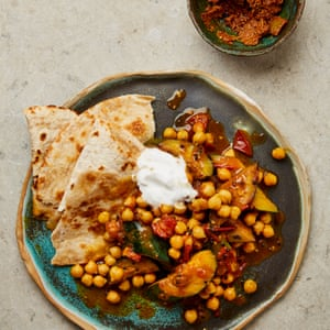 Meera Sodha's simple courgette and chickpea dal.