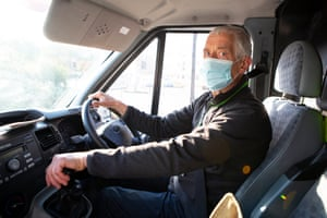 Volunteer worker Michael Blake is the head driver and collects food donations for the centre from supermarkets and shops from all around Huddersfield