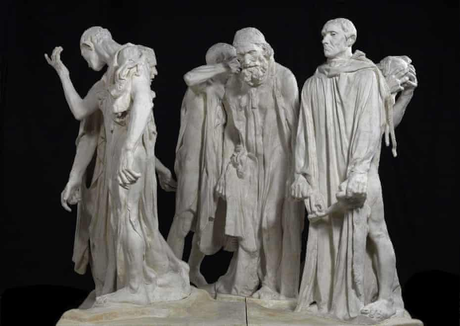Like a requiem mass ... Auguste Rodin's The Burghers of Calais, 1889.
