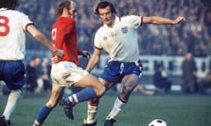 Paul Madeley playing for England against Czechoslovakia in 1975.