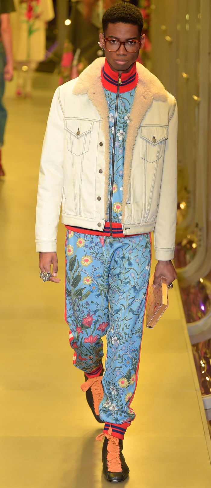 428d98e58fb Milan fashion week  Gucci embraces its brilliant absurdity with fluid show