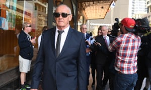 Chris Dawson leaves the Downing Centre Courts in Sydney Thursday, August, 8, 2019.