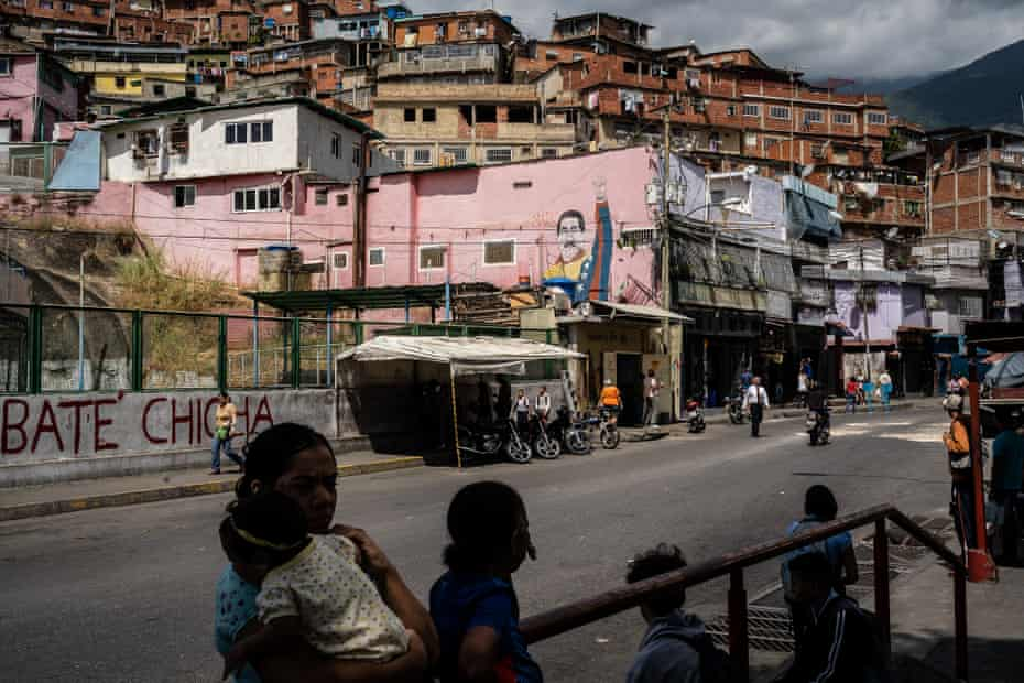 A tense calm holds on the streets of the José Félix Ribas slum after a search by special forces in January for people who had protested on the day Juan Guaidó declared himself president in charge