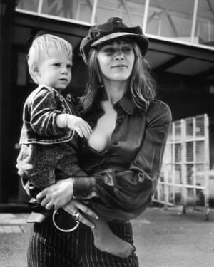 Anita Pallenberg in a baker boy hat.