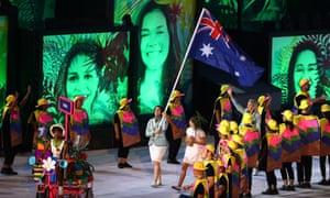 Australians in the 2016 Rio Olympics' opening ceremony