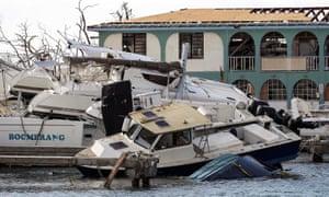 Damage following Hurricane Irma in Tortola, British Virgin Islands.