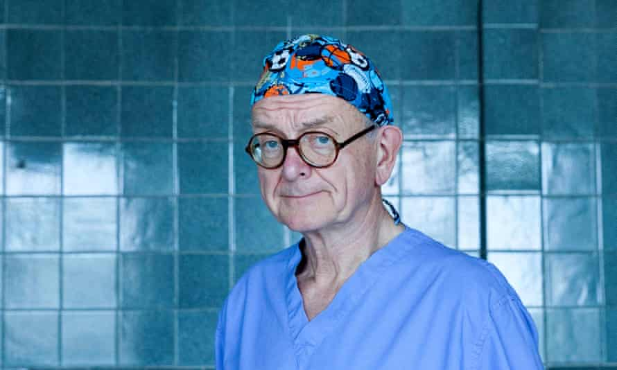 'My job is to teach. The point is to help the next generation': Henry Marsh in the operating room at Orlika Children's hospital, Lviv, Ukraine.