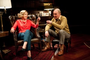 With Penelope Wilton in A Delicate Balance by Edward Albee at the Almeida theatre, London