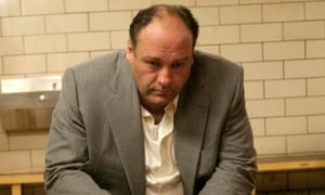 Mob-handed down ... James Gandolfini as Tony Soprano.
