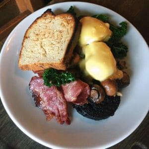 Bacon, egg and toast at The Gardener's Cottage, Edinburgh.
