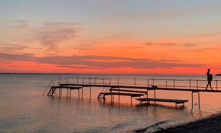 Pier at Søby Camping site, Aero island, Denmark.