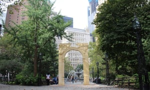 replica of syrian arch destroyedisis unveiled in new york city