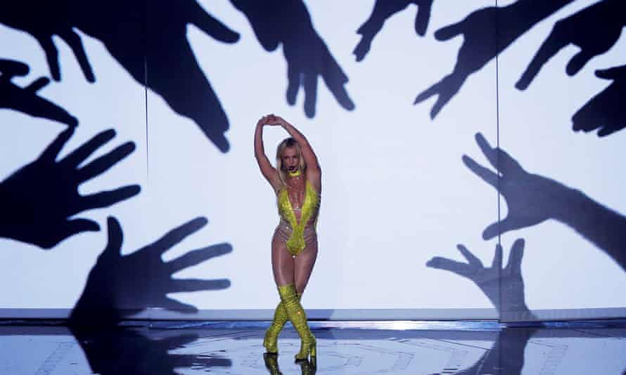 Britney Spears performs at the 2016 MTV Video Music awards in New York on 28 August.