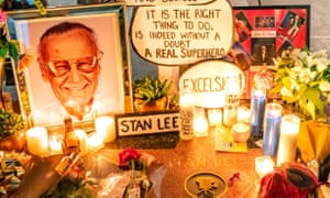 Tributes to Stan Lee on his star on the Hollywood Walk of Fame on 12 November.