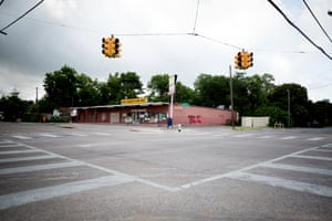 """The corner of Lagow and Spring Street in South Dallas. The """"corner."""" This is where Muhlaysia and Chynal were working when they disappeared."""