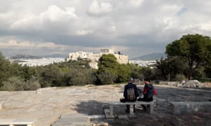 As Greece braces for stricter restrictions, Athenians are still allowed to exercise and take in the city's ancient sites