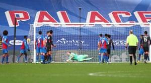 Salah scores his team's sixth goal.