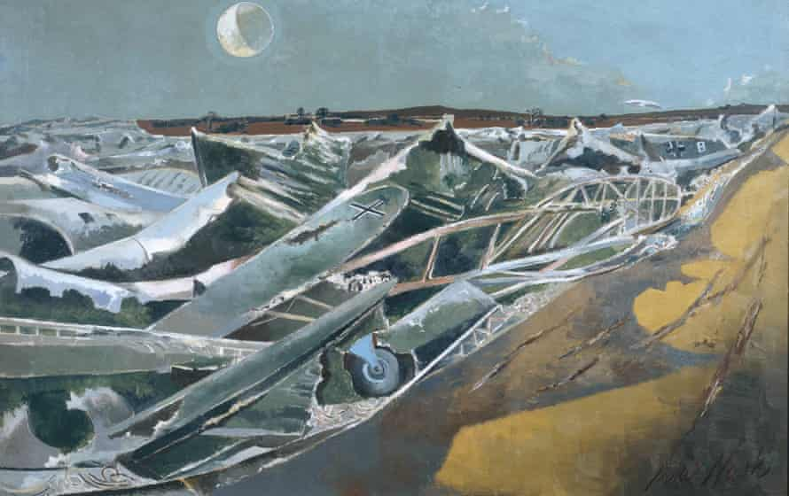 Detail from Totes Meer (Dead Sea) (1940-41), by Paul Nash