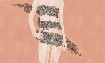 Trans underwear illustration