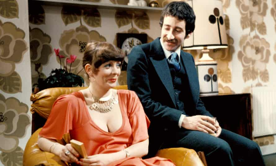 Alison Steadman and Tim Stern in Mike Leigh's Abigail's Party on Play for Today in 1977.